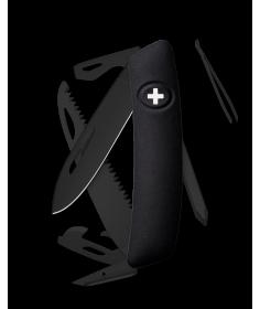 Swiza Swiss Knives Couteau suisse Swiza D06 Allblack KNI.0063.1000 - Coutellerie du Jet d'eau