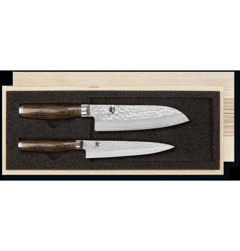 KAI Set couteau universel & couteau Santoku KAI Shun Premier Tim Mälzer damas TDMS-230 - Coutellerie du Jet d'eau