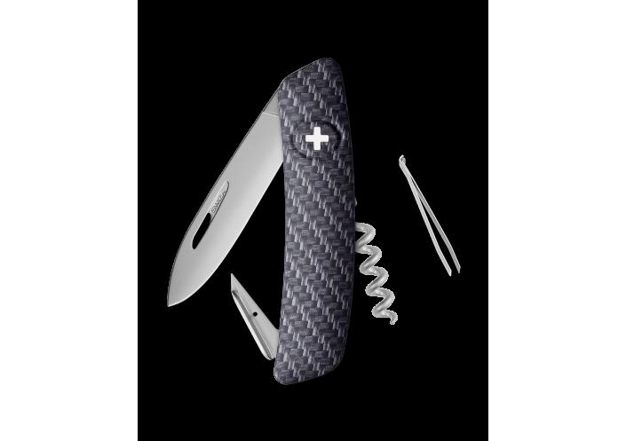 Swiza Swiss Knives Couteau suisse Swiza D01 Allmatt (Carbon) KNI.0016.4000 - Coutellerie du Jet d'eau