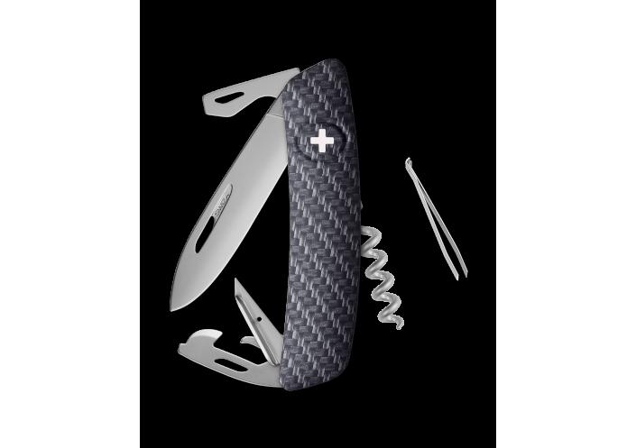 Swiza Swiss Knives Couteau suisse Swiza D03 Allmatt (Carbon) KNI.0036.4000 - Coutellerie du Jet d'eau