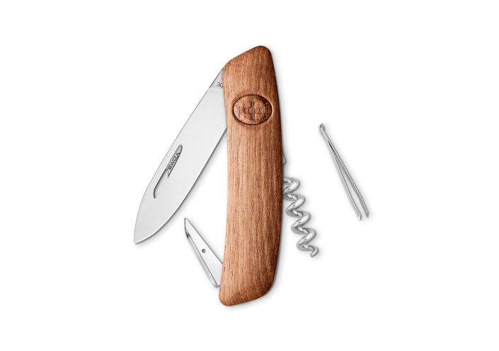 Swiza Swiss Knives Couteau suisse Swiza D01 Wood Walnut (Bois de noyer) KNI.0010.6300 - Coutellerie du Jet d'eau
