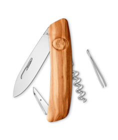 Swiza Swiss Knives Couteau suisse Swiza D01 Wood Olive (Bois d'olivier) KNI.0010.6300 - Coutellerie du Jet d'eau