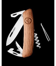 Swiza Swiss Knives Couteau suisse Swiza D03 Wood Walnut (Bois de noyer) KNI.0030.6300 - Coutellerie du Jet d'eau
