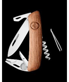 Swiza Swiss Knives Couteau suisse Swiza TT03 Wood Walnut Tick-Tool (Bois de noyer) KNI.0070.6300 - Coutellerie du Jet d'eau