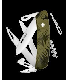 Swiza Swiss Knives Couteau suisse Swiza C07 Camouflage Fougère KNI.0110.2050 - Coutellerie du Jet d'eau