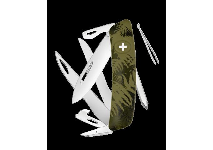 Swiza Swiss Knives Couteau suisse Swiza C08 Camouflage Fougère KNI.0120.2050 - Coutellerie du Jet d'eau