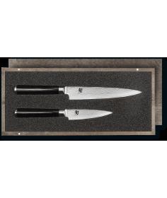 KAI Set couteau d'office et couteau universel KAI Shun Classic damas DMS-210 - Coutellerie du Jet d'eau