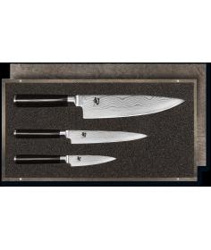 KAI Set couteau d'office, couteau universel et couteau de cuisine KAI Shun Classic damas DMS-300 - Coutellerie du Jet d'eau