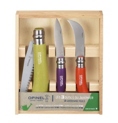 Opinel Coffret Jardin Opinel (3 pcs) 001617 - Coutellerie du Jet d'eau