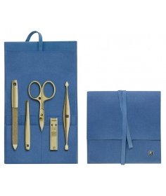 Zwilling J.A Henckels Soin des ongles manicure Zwilling - Etui de poche bleu - Twinox Gold Edition (5 pièces) 97716-008-0 - C...