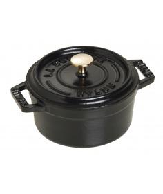 Staub Mini Cocotte Ronde Staub Noir (10 à 12 cm) 40500-101-0 - Coutellerie du Jet d'eau