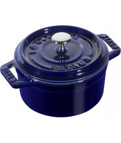 Staub Mini Cocotte Ronde Staub Bleu (10 cm) 40510-262-0 - Coutellerie du Jet d'eau