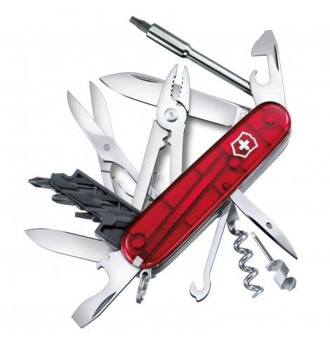 Victorinox Swiss Knives Couteau suisse Victorinox CyberTool M Transparent 1.7725.T - Coutellerie du Jet d'eau