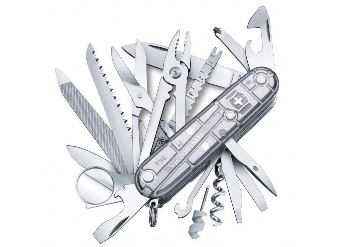 Victorinox Swiss Knives Couteau suisse Victorinox SwissChamp SilverTech 1.6794.T7 - Coutellerie du Jet d'eau