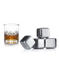 Vacuvin Lot de 4 pierres à whisky Vacuvin 7218603 - Coutellerie du Jet d'eau