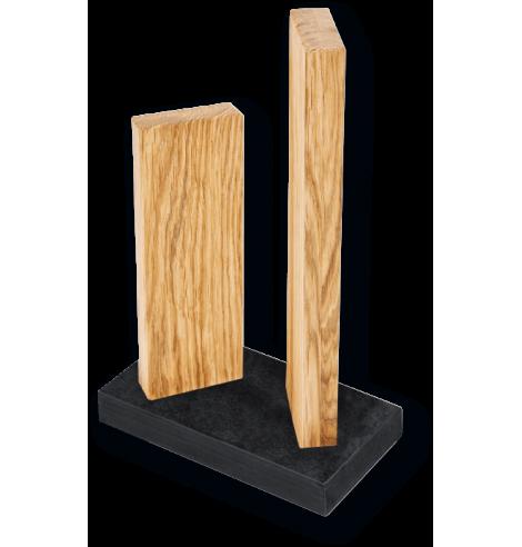 """Porte-couteaux magnétique KAI """"Stonehenge"""" en chêne (4 couteaux) STH-3.3 - Coutellerie du Jet d'eau"""