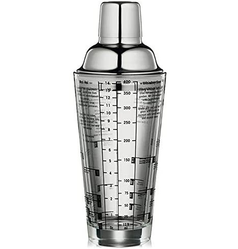 Cilio Shaker à cocktails Cilio, acier inox et verre (0.4L) 200300 - Coutellerie du Jet d'eau
