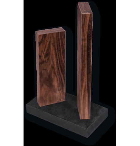 """Porte-couteaux magnétique KAI """"Stonehenge"""" en noyer (4 couteaux) STH-4.3 - Coutellerie du Jet d'eau"""