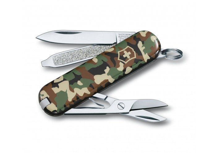Victorinox Swiss Knives Couteau suisse Victorinox Classic DS Camouflage 0.6223.94 - Coutellerie du Jet d'eau