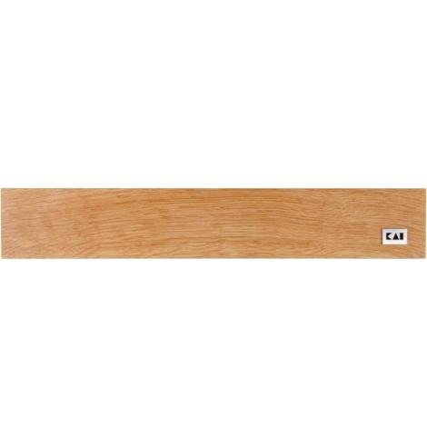 Barre magnétique Kai en bois de chêne (39 cm) DM-0800 - Coutellerie du Jet d'eau
