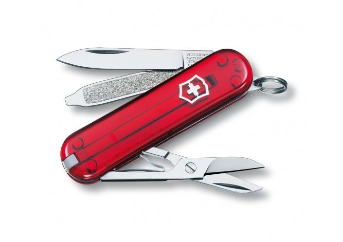 Victorinox Swiss Knives Couteau Suisse Victorinox Classic SD Transparent 0.6223.T - Coutellerie du Jet d'eau