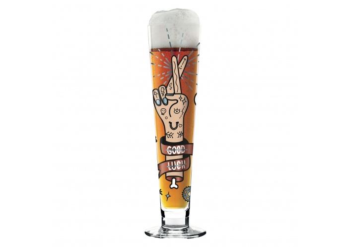 Ritzenhoff Verre à bière Ritzenhoff - Black Label - Good luck 1010237 - Coutellerie du Jet d'eau