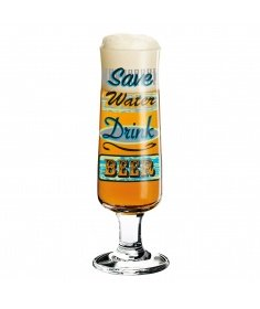 Ritzenhoff Verre à bière Ritzenhoff - Save water drink beer 3220015 - Coutellerie du Jet d'eau