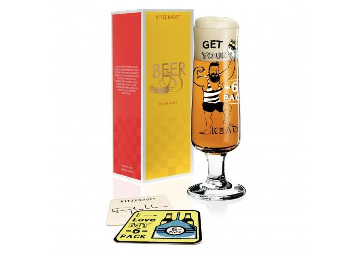 Ritzenhoff Verre à bière Ritzenhoff - Get your 6 packs ready 3220032 - Coutellerie du Jet d'eau