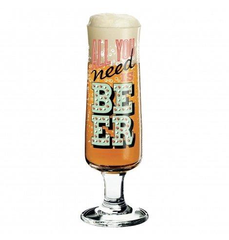 Ritzenhoff Verre à bière Ritzenhoff - All you need is beer 3220038 - Coutellerie du Jet d'eau