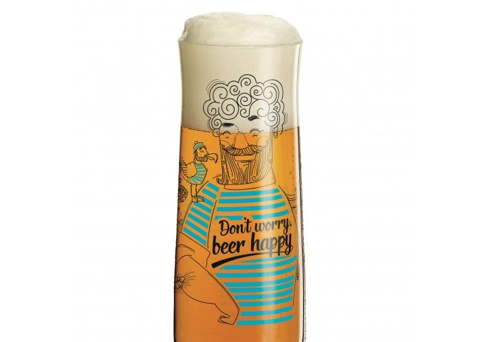 Ritzenhoff Verre à bière Ritzenhoff - Don't worry beer happy 3220039 - Coutellerie du Jet d'eau
