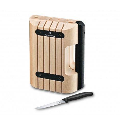 Porte-couteaux Victorinox en hêtre (11 pièces) 7.7053.0 - Coutellerie du Jet d'eau