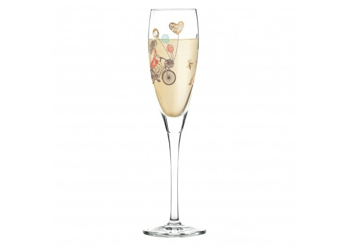 Ritzenhoff Flûte à champagne Ritzenhoff - Pearls - Bicyclette 3250041 - Coutellerie du Jet d'eau
