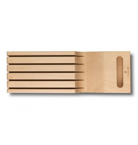 Range-couteaux pour tiroir Victorinox en hêtre (5 pièces) 7.7065.1 - Coutellerie du Jet d'eau