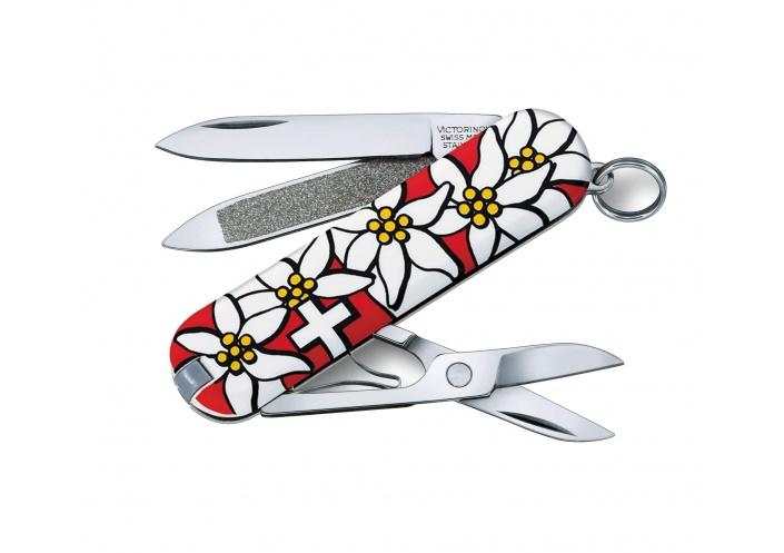 Victorinox Swiss Knives Couteau suisse Victorinox Classic SD Edelweiss 0.6203.840 - Coutellerie du Jet d'eau