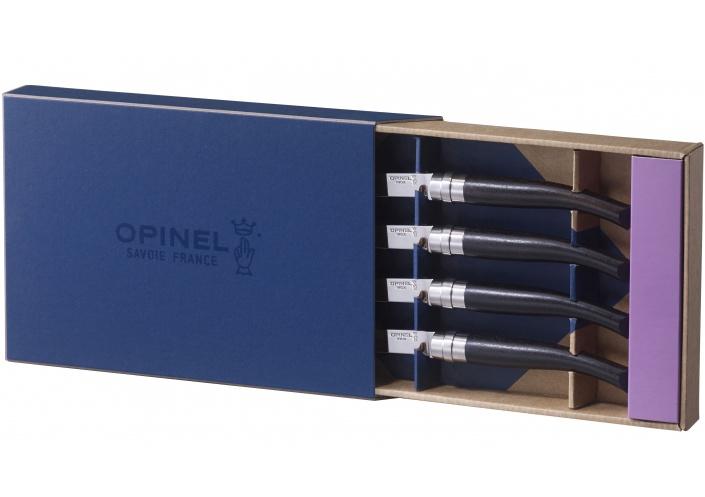 """Opinel Opinel coffret de couteaux """"Table Chic"""" en bois d'ébène (4 pièces) 001827 - Coutellerie du Jet d'eau"""