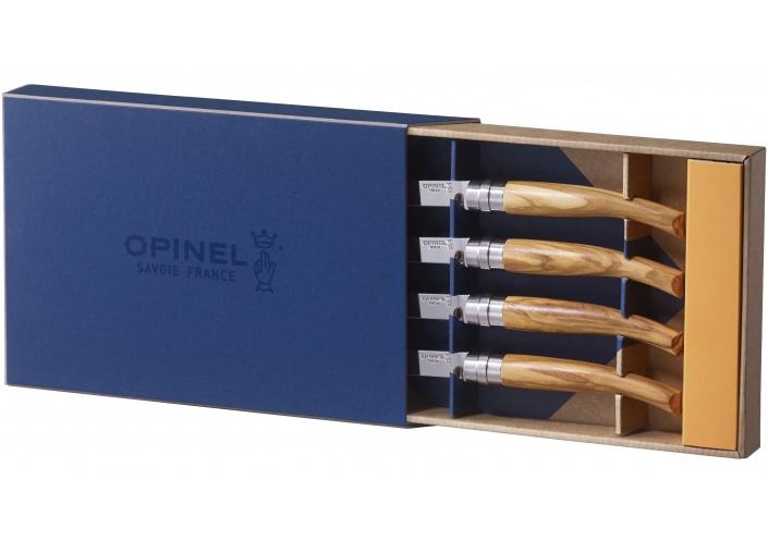 """Opinel Opinel coffret de couteaux """"Table Chic"""" en bois d'olivier (4 pièces) 001830 - Coutellerie du Jet d'eau"""