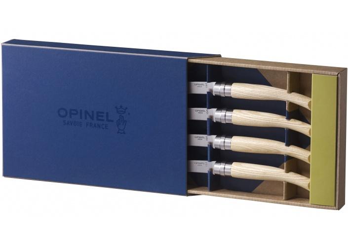 """Opinel Opinel coffret de couteaux """"Table Chic"""" en bois de frêne (4 pièces) 001828 - Coutellerie du Jet d'eau"""
