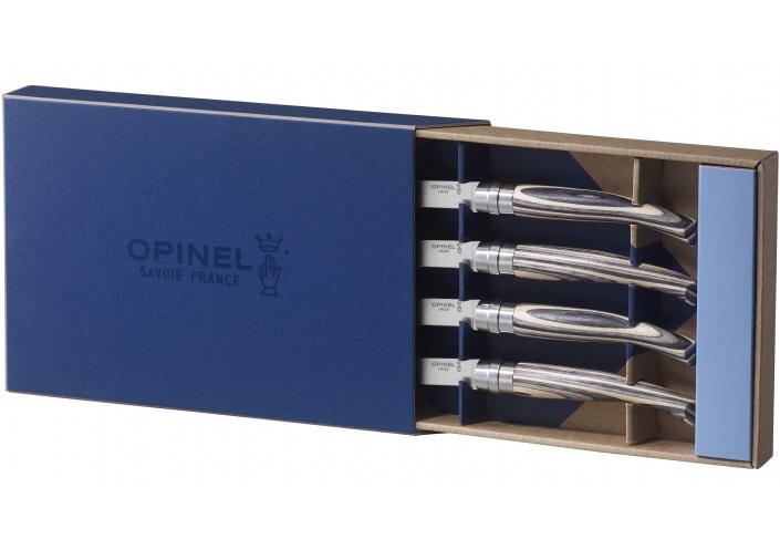 """Opinel Opinel coffret de couteaux """"Table Chic"""" en bois de bouleau (4 pièces) 001829 - Coutellerie du Jet d'eau"""