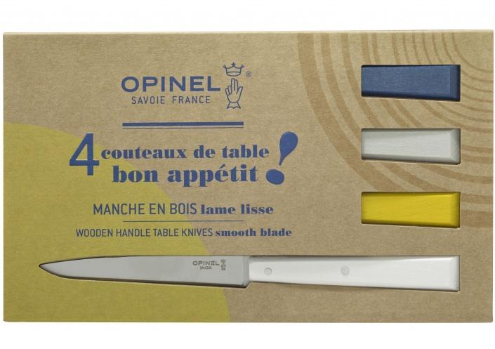 Opinel Opinel coffret de couteaux de table Bon Appétit Céleste (4 pièces) 002040 - Coutellerie du Jet d'eau