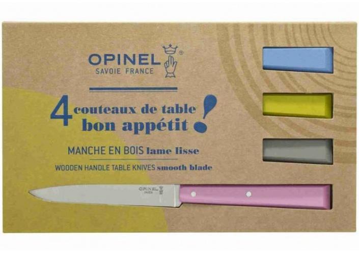 Opinel Opinel coffret de couteaux de table Bon Appétit Campagne (4 pièces) 001533 - Coutellerie du Jet d'eau
