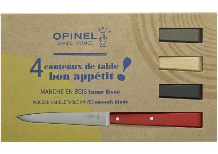 Opinel Opinel coffret de couteaux de table Bon Appétit Loft (4 pièces) 001534 - Coutellerie du Jet d'eau