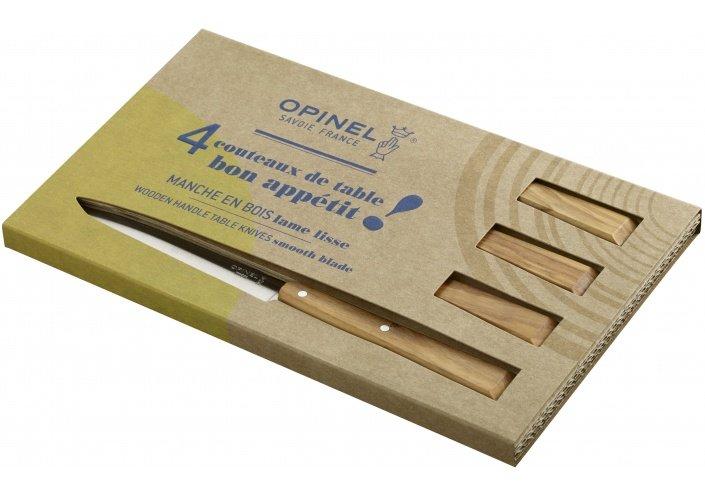 Opinel Opinel coffret de couteaux de table Bon Appétit Sud (4 pièces) 001515 - Coutellerie du Jet d'eau