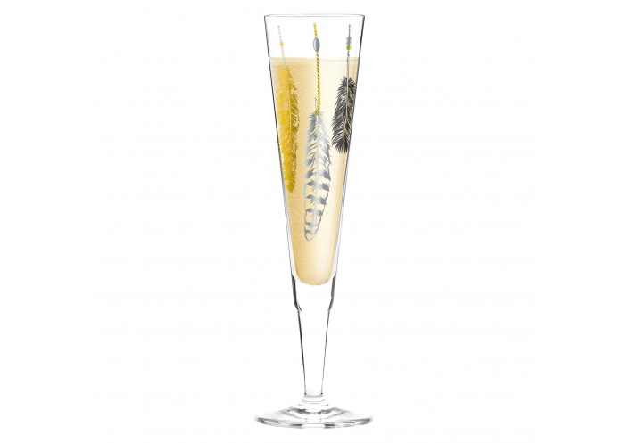 Ritzenhoff Flûte à champagne Ritzenhoff - Champus - Plumes 1070246 - Coutellerie du Jet d'eau