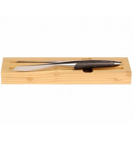 Sknife Set de 2 couteaux steak Sknife en bois de frêne noir (11 cm) S-201E - Coutellerie du Jet d'eau
