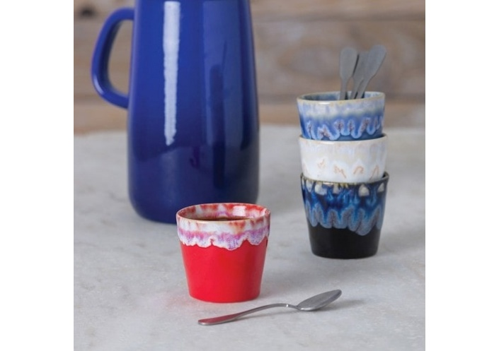 Costa Nova Lot de 6 gobelets à café Grespresso Costa Nova Rouge LSC081RD - Coutellerie du Jet d'eau