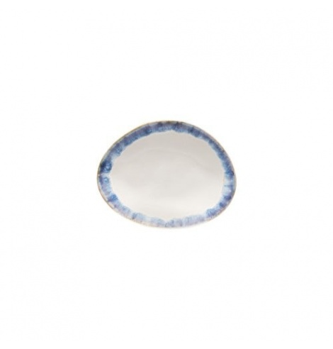 Costa Nova Brisa assiette plate ovale (15.4 x 12 cm) Bleu GOP161BLUE - Coutellerie du Jet d'eau