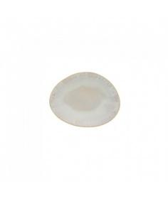 Costa Nova Set de 6 assiettes plates ovales Costa Nova Brisa (15.4 x 12 cm) Sable GOP161SAL - Coutellerie du Jet d'eau