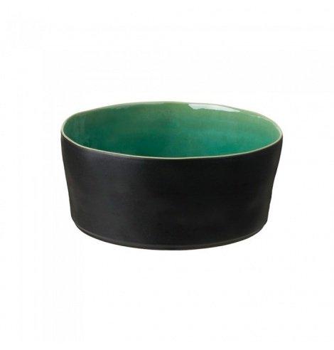 Costa Nova Riviera saladier Costa Nova, noir et azur (Ø 24.5 cm) LOS241AZ - Coutellerie du Jet d'eau