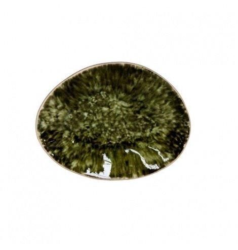 Costa Nova Set de 6 assiettes plates ovales Costa Nova Riviera, forêt (16 x 12 cm) GOP162TGR - Coutellerie du Jet d'eau