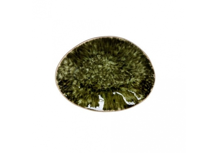 Costa Nova Riviera assiette plate ovale Costa Nova, forêt (16 x 12 cm) GOP162TGR - Coutellerie du Jet d'eau